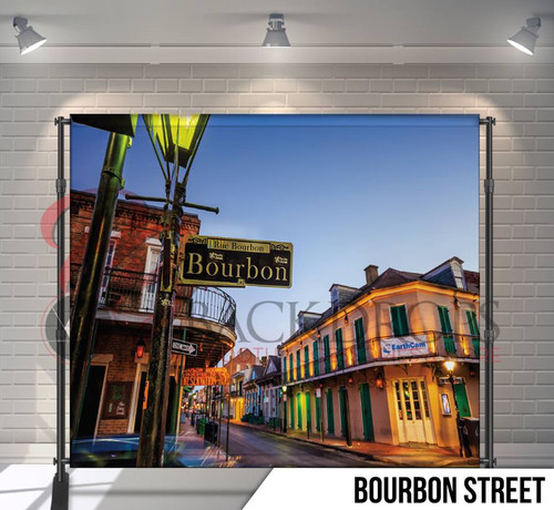 8x8 Printed Tension fabric backdrop (Bourbon Street)