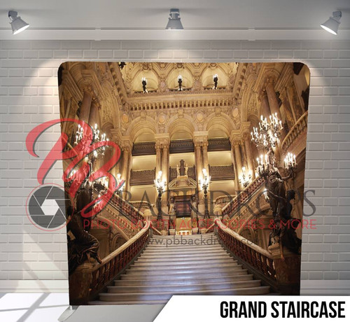 Single-sided Pillow Cover Backdrop  (Grand Staircase)