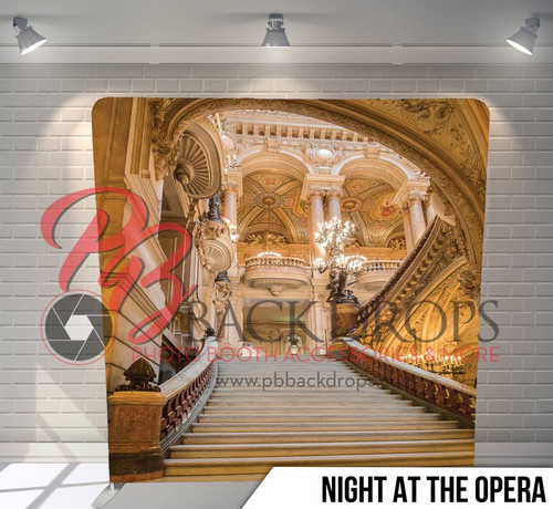 Single-sided Pillow Cover Backdrop  (Night at the Opera)