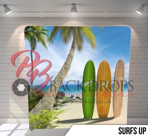 Single-sided Pillow Cover Backdrop  (Surfs Up)