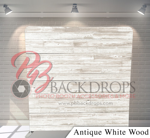 Single-sided Pillow Cover Backdrop  (Antique White Wood)