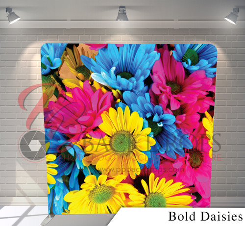 Single-sided Pillow Cover Backdrop  (Bold Daisies)