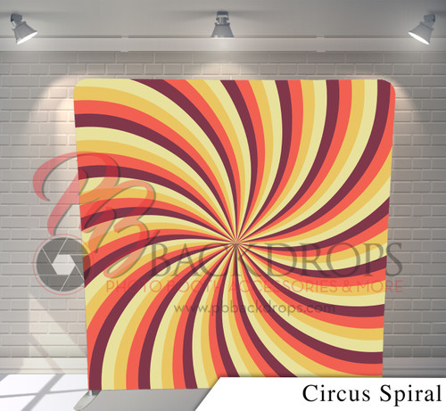 Single-sided Pillow Cover Backdrop  (Circus Spiral)
