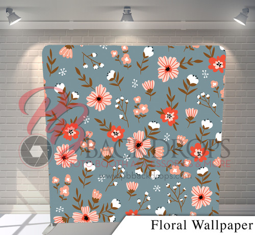 Single-sided Pillow Cover Backdrop  (Floral Wallpaper)
