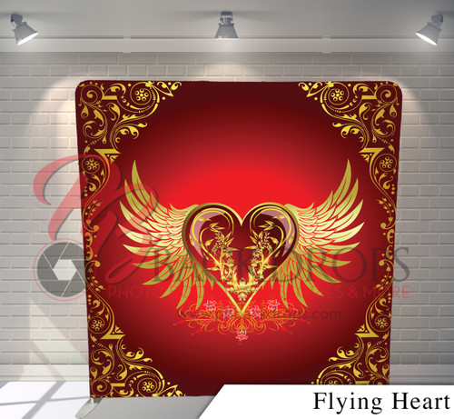Single-sided Pillow Cover Backdrop  (Flying Heart)