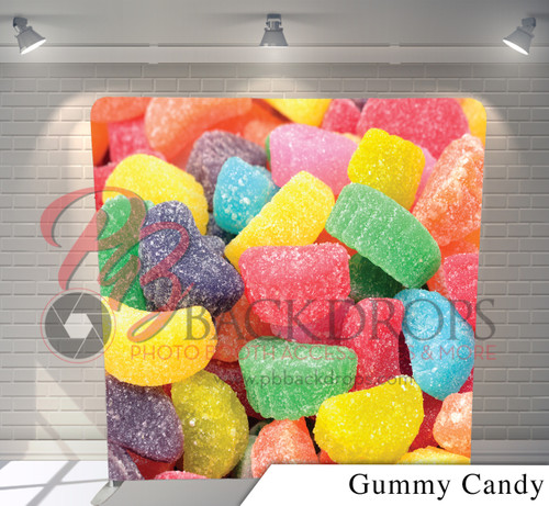 Single-sided Pillow Cover Backdrop  (Gummy Candy)