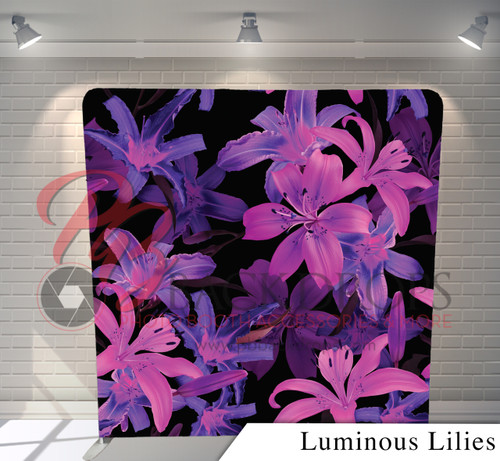 Single-sided Pillow Cover Backdrop  (Luminous Lilies)