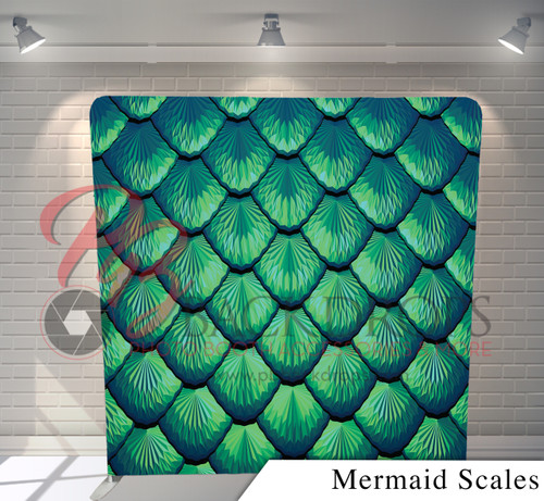 Single-sided Pillow Cover Backdrop  (Mermaid Scales)