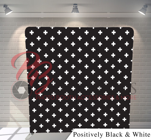 Single-sided Pillow Cover Backdrop  (Positively Black White)