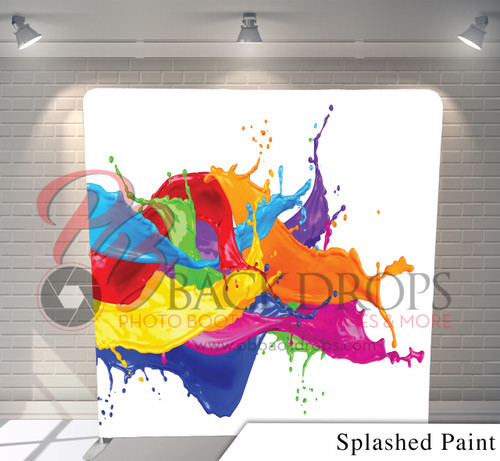 Single-sided Pillow Cover Backdrop  (Splashed Paint)