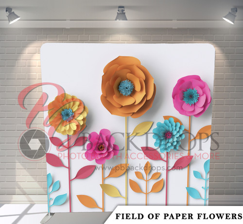 Single-sided Pillow Cover Backdrop  (Field Of Paper Flowers)