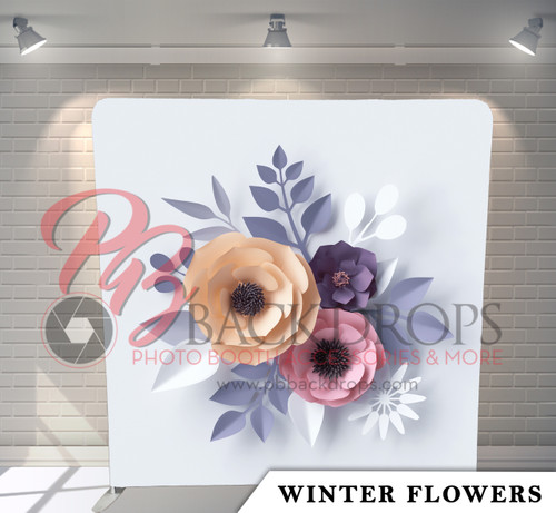Single-sided Pillow Cover Backdrop  (Winter Flowers)