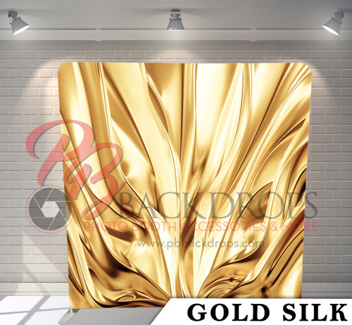 Single-sided Pillow Cover Backdrop  (Gold Silk)