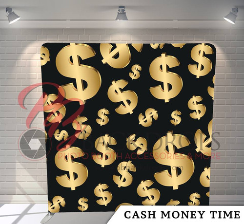 Single-sided Pillow Cover Backdrop  (Cash Money Time)