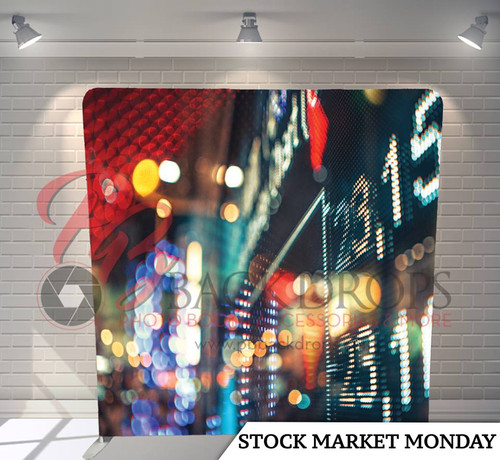 Single-sided Pillow Cover Backdrop  (Stock Market Monday)