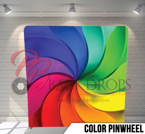 Single-sided Pillow Cover Backdrop  (Color Pinwheel)