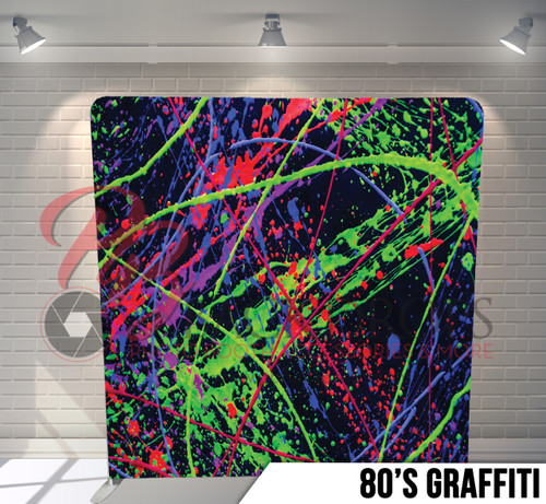 Single-sided Pillow Cover Backdrop  (80's Grafitti)