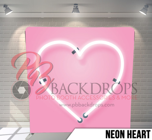 Single-sided Pillow Cover Backdrop  (Neon Heart)