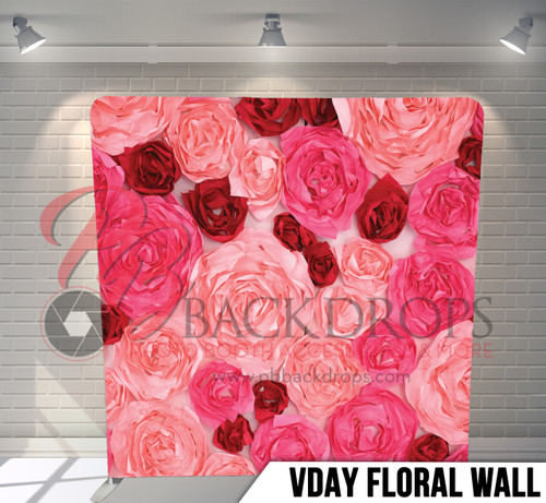 Single-sided Pillow Cover Backdrop  (Vday Floral Wall)