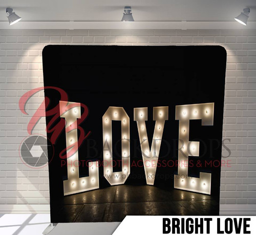 Single-sided Pillow Cover Backdrop  (Bright Love)