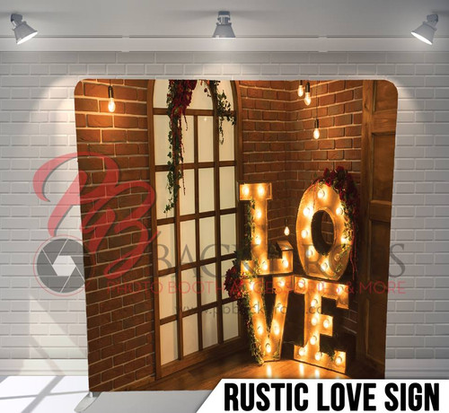 Single-sided Pillow Cover Backdrop  (Rustic Love Sign)