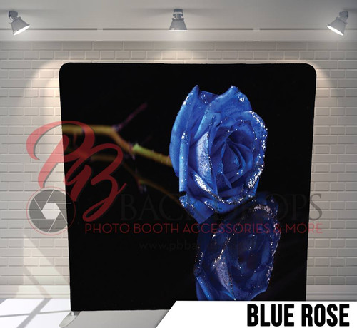 Single-sided Pillow Cover Backdrop  (Blue Rose)
