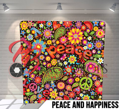 Single-sided Pillow Cover Backdrop  (Peace and Happiness)