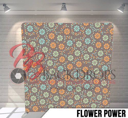 Single-sided Pillow Cover Backdrop  (Flower Power)