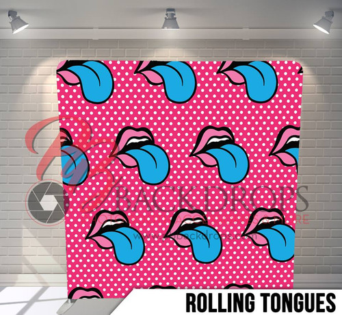 Single-sided Pillow Cover Backdrop  (Rolling Tongues)