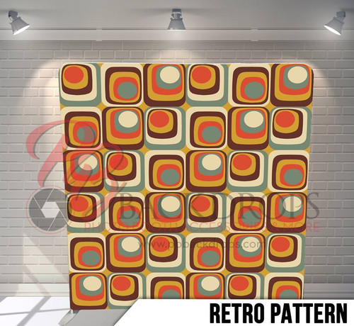 Single-sided Pillow Cover Backdrop  (Retro Pattern)