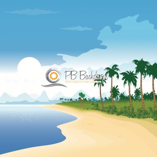 8x8 Printed Tension single-sided fabric backdrop - Beachie | PB Backdrops