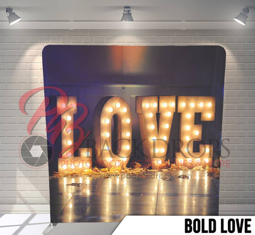 Single-sided Pillow Cover Backdrop  (Bold Love)