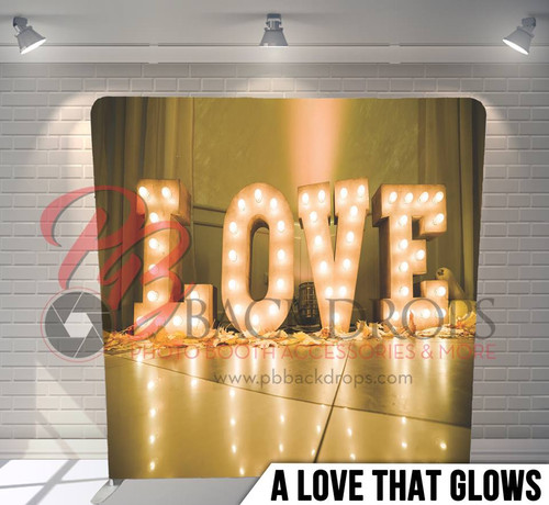 Single-sided Pillow Cover Backdrop  (A Love that Glows)