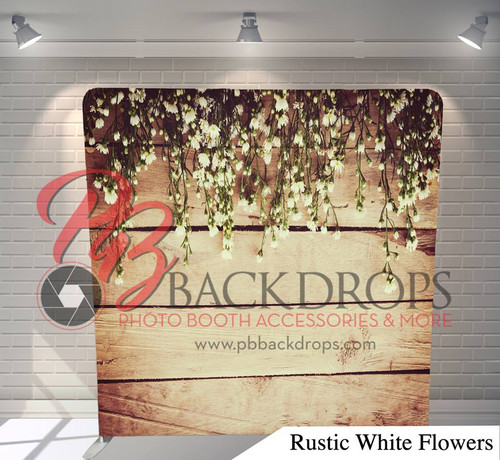 Single-sided Pillow Cover Backdrop  (Rustic White Flowers)