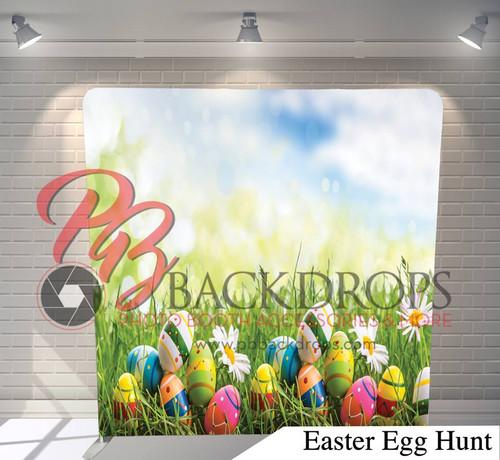Single-sided Pillow Cover Backdrop  (Easter Egg Hunt)