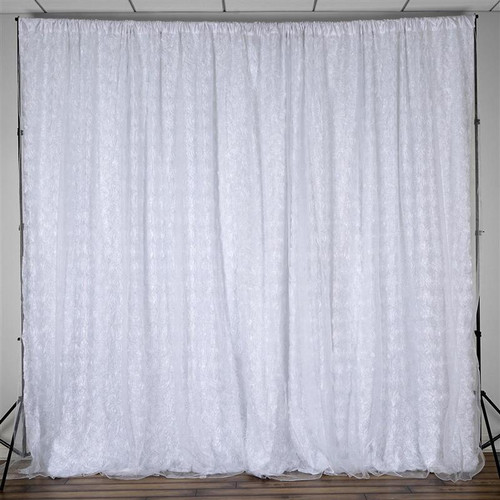 20 ft x 10 ft Rosette  Backdrop - White