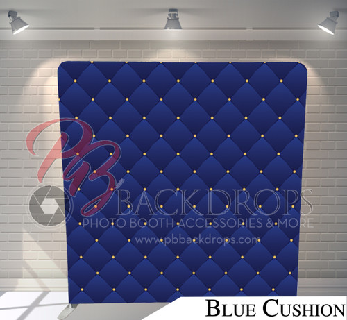 Single-sided Pillow Cover Backdrop  (Blue Cushion)