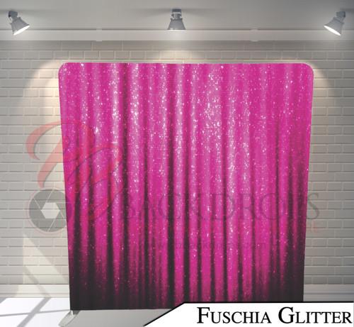 Single-sided Pillow Cover Backdrop  (Fuschia Glitter)