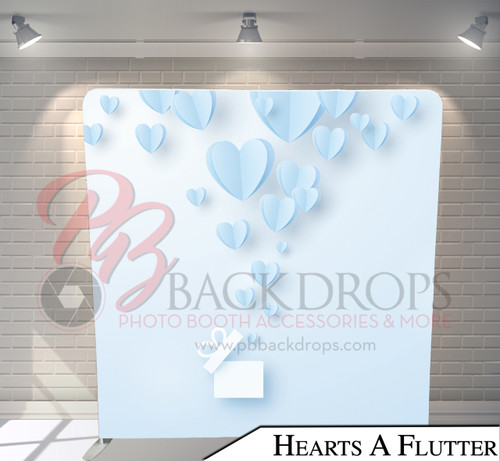 Single-sided Pillow Cover Backdrop  (Hearts A Flutter)