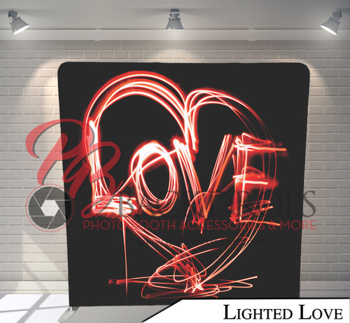 Single-sided Pillow Cover Backdrop  (Lighted Love)