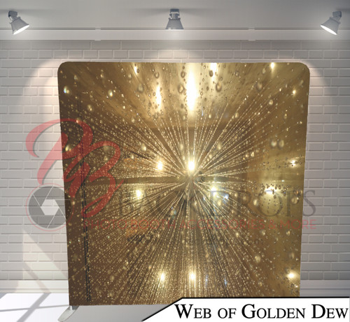 Single-sided Pillow Cover Backdrop  (Web of Golden Dew)