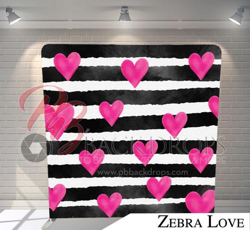 Single-sided Pillow Cover Backdrop  (Zebra Love)