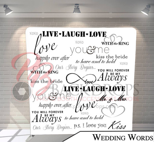 Single-sided Pillow Cover Backdrop  (Wedding Words)