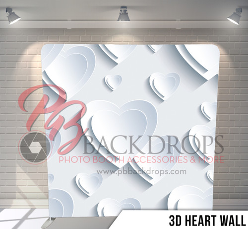 Single-sided Pillow Cover Backdrop  (3D Heart Wall)