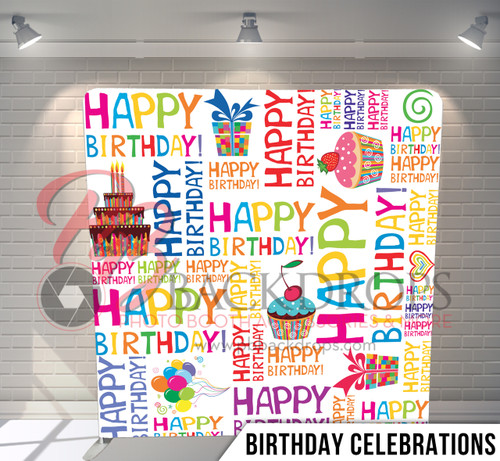 Single-sided Pillow Cover Backdrop  (Birthday Celebrations)