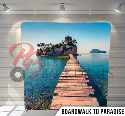 Single-sided Pillow Cover Backdrop  (Boardwalk to Paradise)