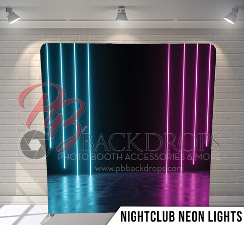Single-sided Pillow Cover Backdrop  (Nightclub Neon Lights)