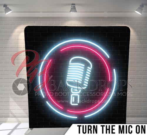 Single-sided Pillow Cover Backdrop  (Turn the Mic On)