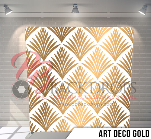 Single-sided Pillow Cover Backdrop  (Art Deco Gold)
