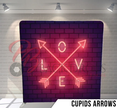 Single-sided Pillow Cover Backdrop  (Cupids Arrows)